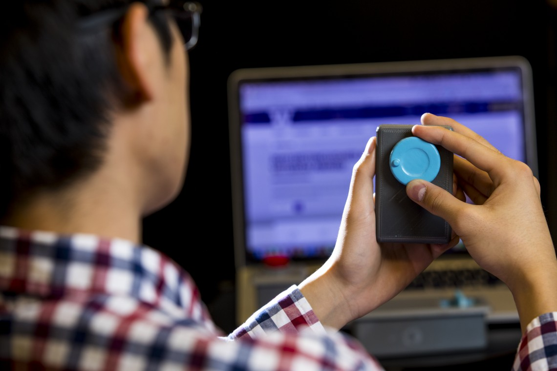 The UW team also 3-D printed plastic scroll wheels, sliders and buttons that can wirelessly interact with computers, phones and other WiFi-connected devices.