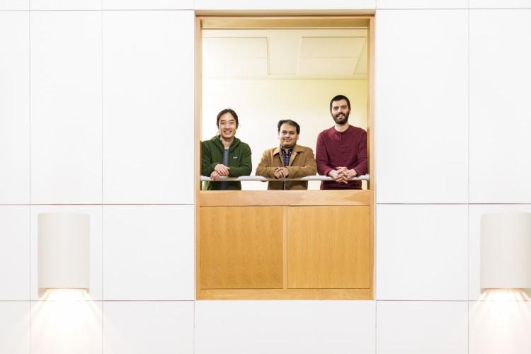 Alan Zhan (left), Arka Majumdar (center) and Shane Colburn (right).