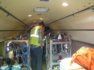 tanks inside airplane