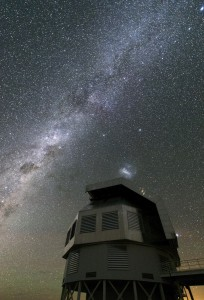 A telescope in Chile with the Milky Way visible.