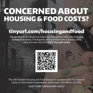 The housing and food survey is open to any UW student age 18 or older.