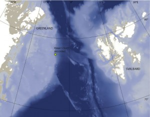 map of Fram Strait
