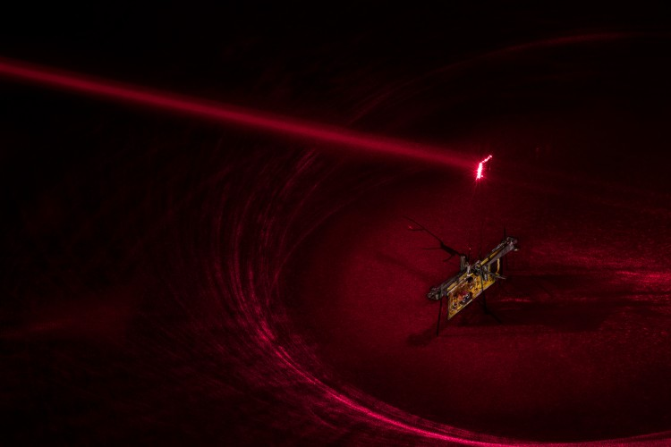 RoboFly with a red laser