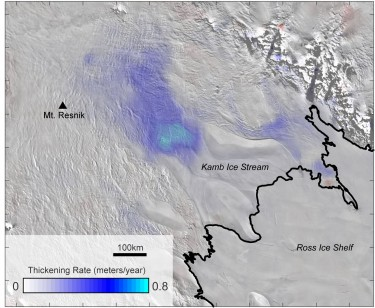 map of Antarctic ice elevation