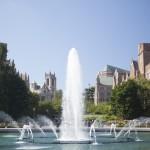 Drumheller Fountain on a Sunny Day
