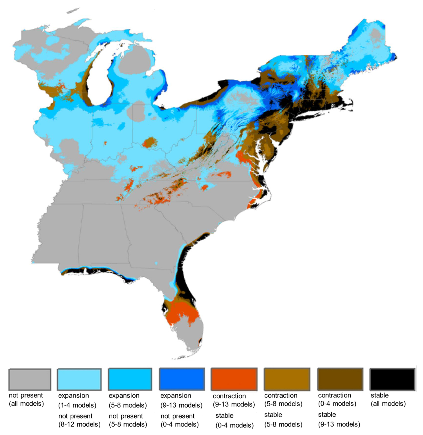 Climate Change Florida Map.Common Allergen Ragweed Will Shift Northward Under Climate Change
