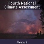 cover of Fourth National Climate Assessment Volume II showing wildfires