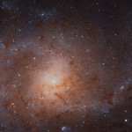 An image of a nearby galaxy called M33.