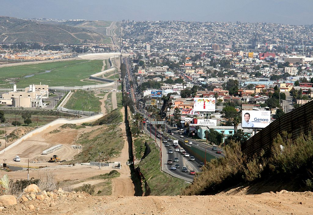This 2007 photo shows the border between California, left, and Tijuana, Mexico, right.