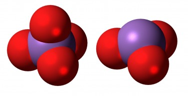 purple spheres surrounded by red spheres