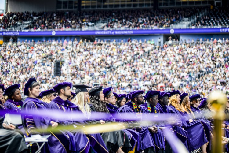 A scene from the 2018 UW commencement