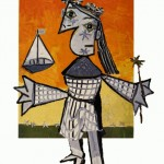 "Picasso's ""Niña con corona y barco"" steps out of the frame"