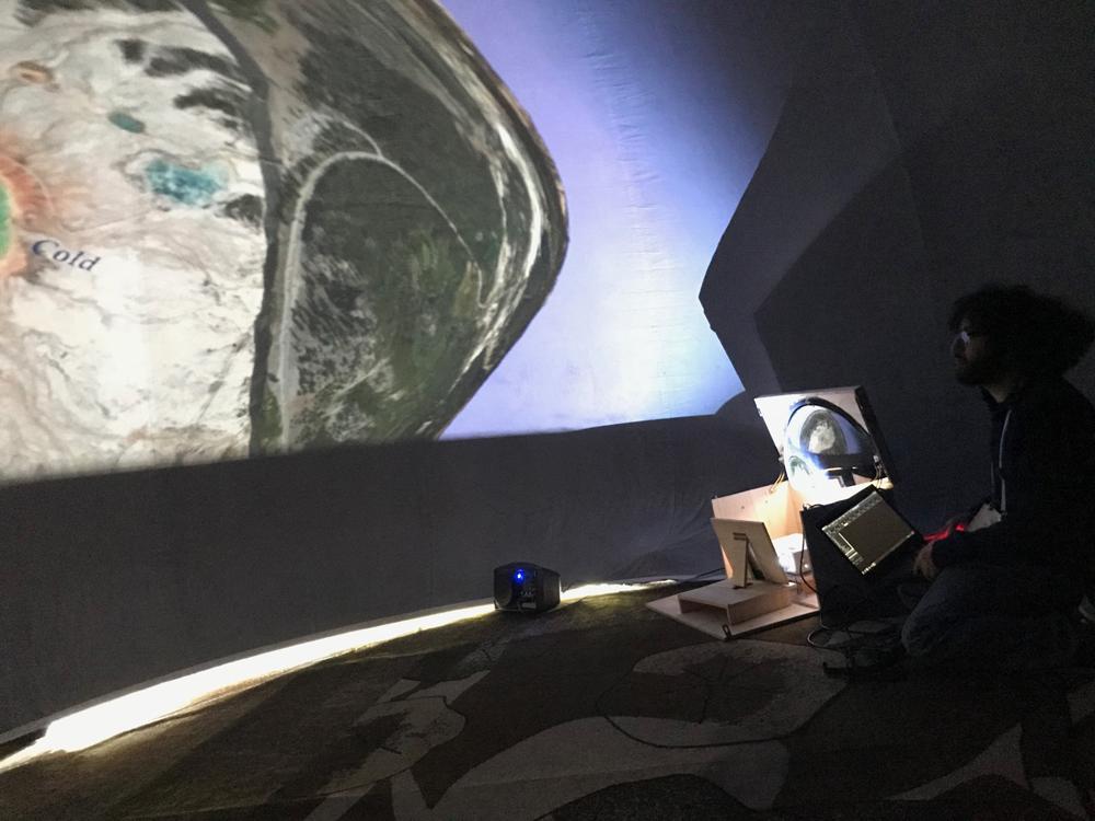 Astrobiology outreach: UW's mobile planetarium lands at