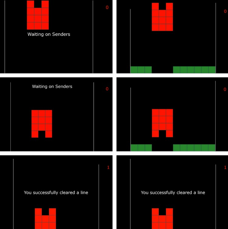 A screen capture of the Tetris-like game