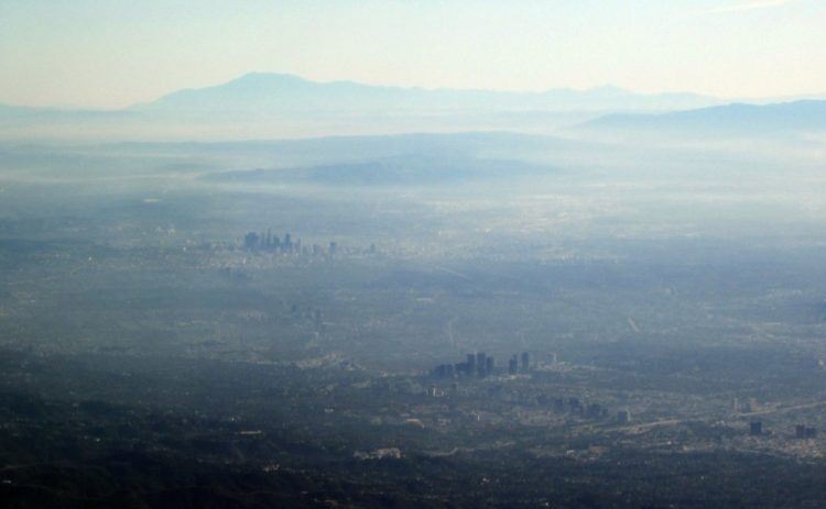 Air pollution over Los Angeles.