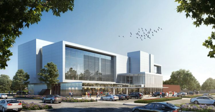 Digital rendering of new building