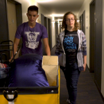 moving students into residence halls