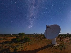 Image of The Australian Square Kilometre Array Pathfinder radio telescope in Western Australia.