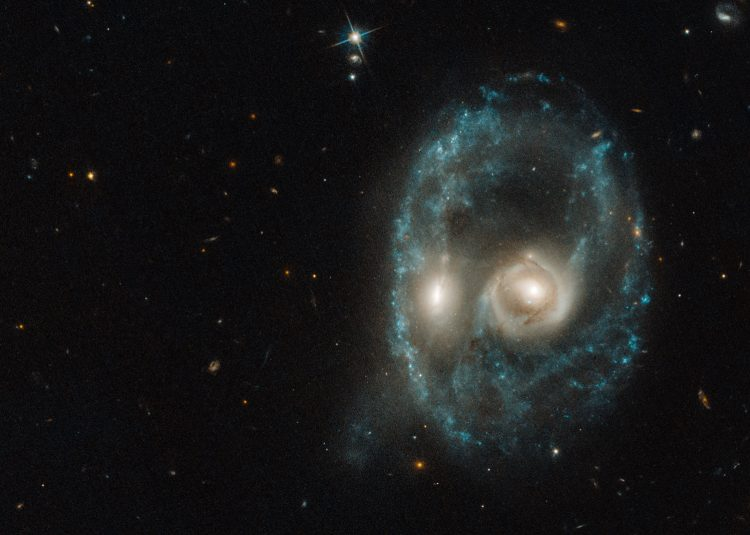 An image of a galaxy in outer space