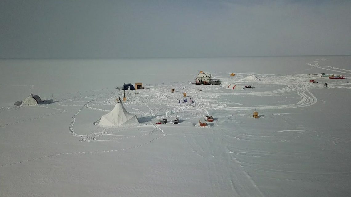 snow and tents