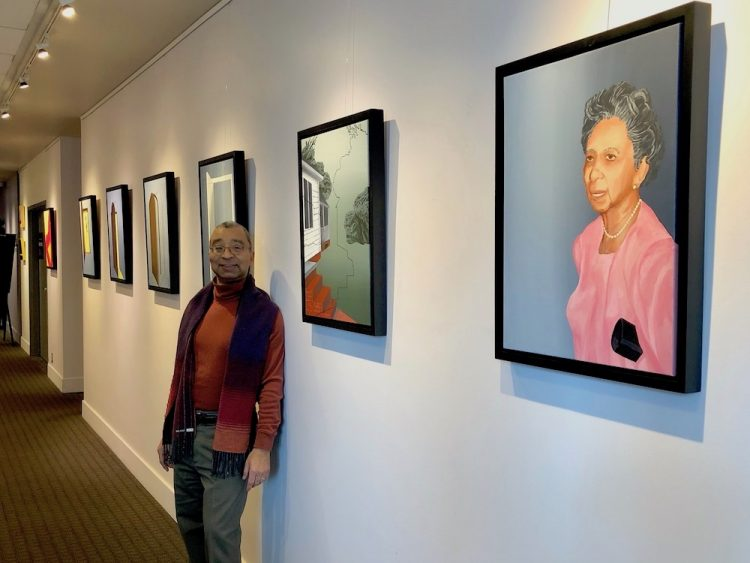 JW Harrington is not only a scholar of urban studies and a longtime UW professor, in recent years he has also become an artist. He has an exhibit pf paintings at the UW Tower in January and February.