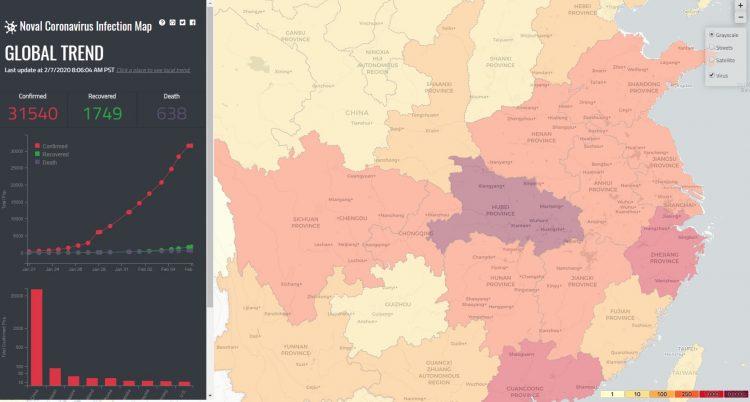 interactive map shows worldwide spread of coronavirus