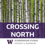 "Logo for podcast ""Crossng North,"" by UW Dept of Scandinavian Studies"