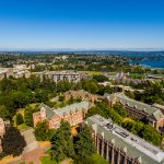 Aerial view of University of Washington campus in Seattle