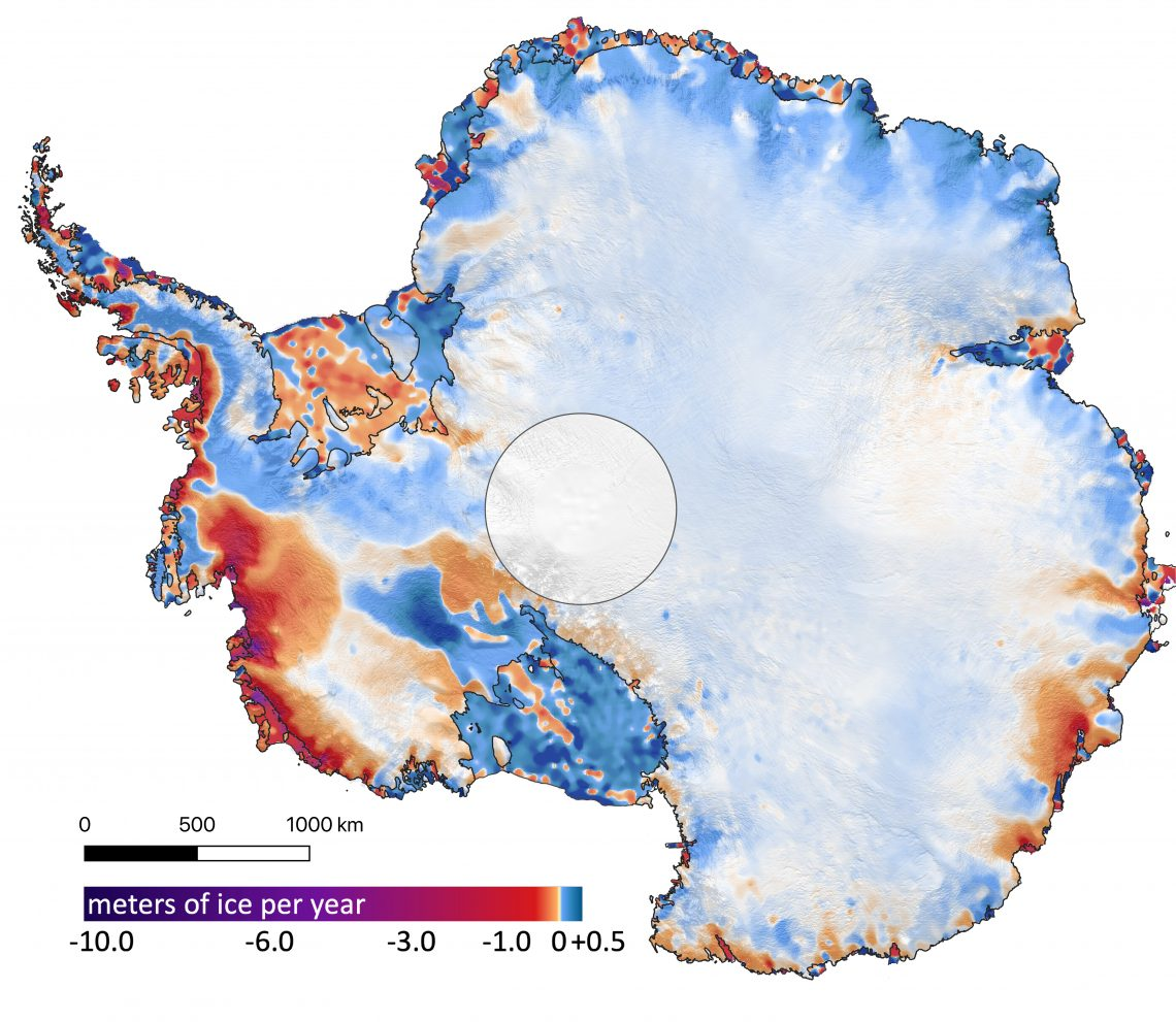 colored map of Antarctica