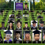 college of arts and sciences graduates appear virtually during the webcast