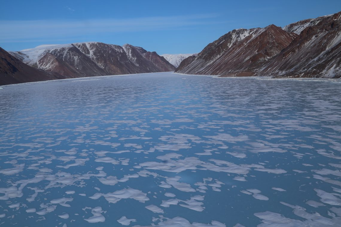 water with small ice floes