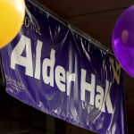 a banner for alder hall