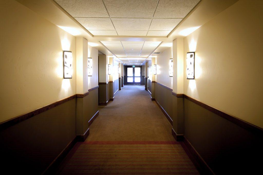 hotel hallway interior