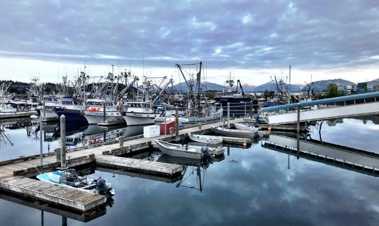 fishing boats in Alaska harbor