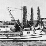 historical photo of the research vessel Commando