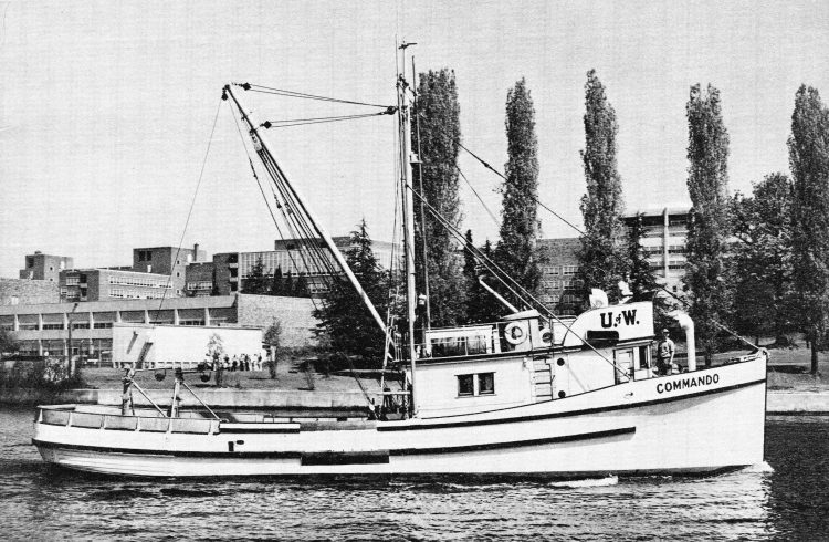 historical photo of the research vessel Commando