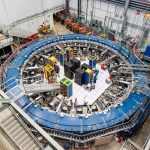 A picture of the giant magnetic ring at the heart of a particle physics experiment