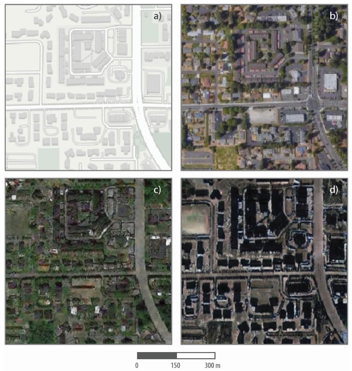 Maps in four quadrants