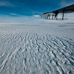 ridged ice and airplane wing