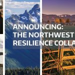 images of Northwest landscapes with announcement text