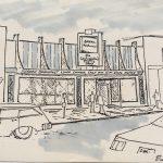 sketch of a restaurant
