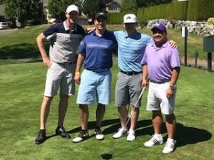 Foursome, from left, Knute Lund, Dr. Jonathan Wright, Dr. Brian Winters, and Department of Urology Administrator Joe Meno had the best score of the tournament at 58.