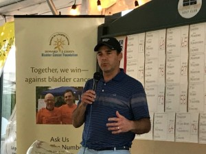 Dr. Jonathan Wright making remarks at the 2017 Howard J. Cohen Foundation Golf Tournament