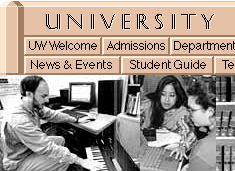 First UW Home Page