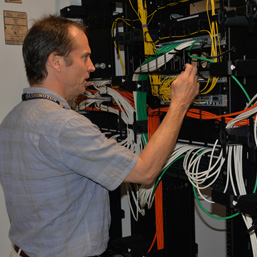 UW-IT's Thomas Hammond coordinated the team that implemented GIX's internal network.