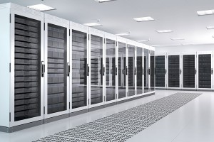 Image of a server room in a data center.