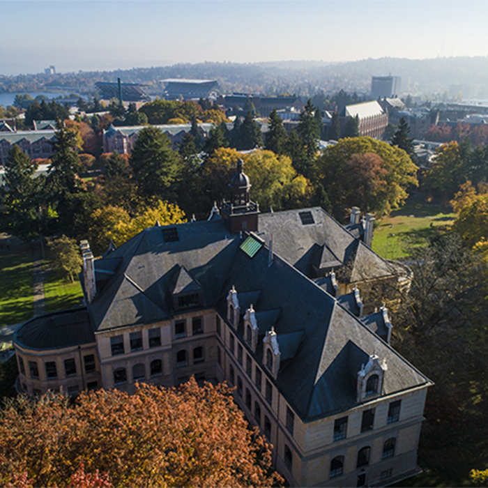 Arial view of UW Campus