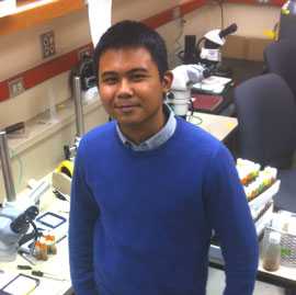 Marvin Nayan in lab