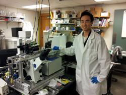 Kenny Chou in lab
