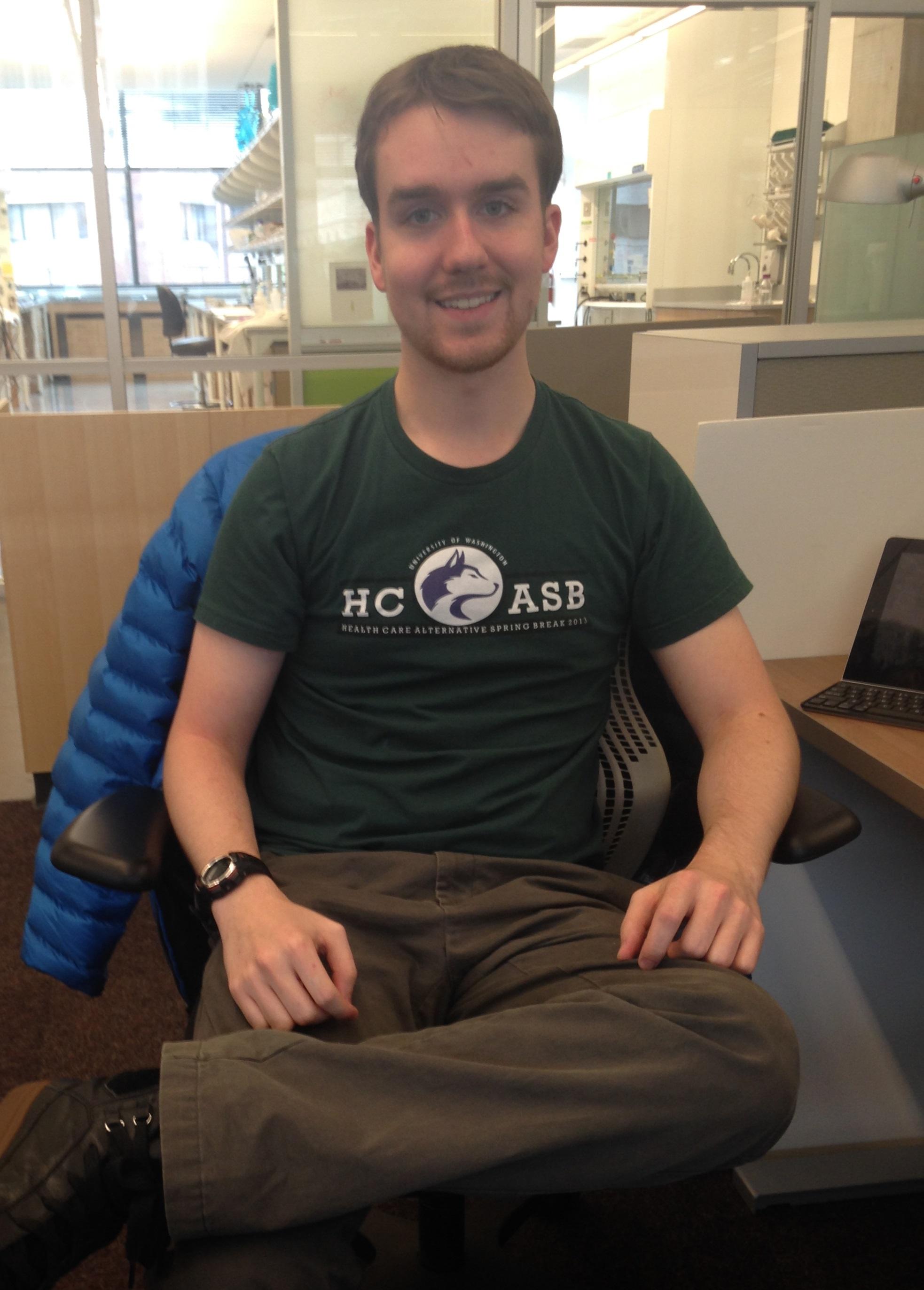 Jeremy Housekeeper in lab